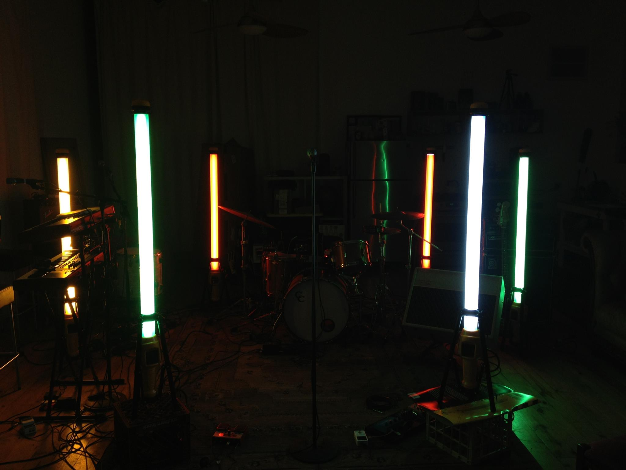 lights in the rehearsal room